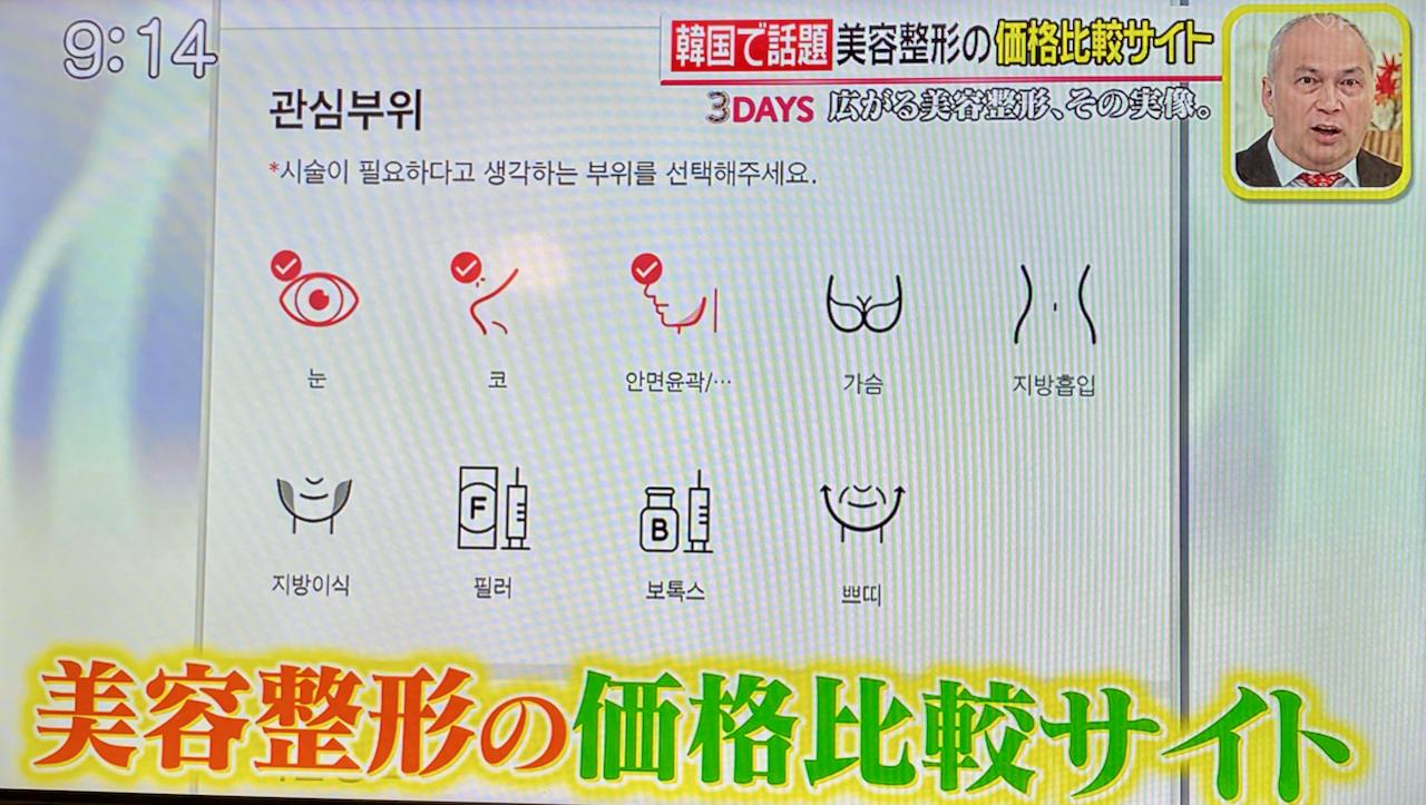美容整形の価格比較サイト 韓国